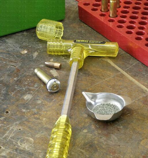 Кинетический молоток для разборки патронов своими руками